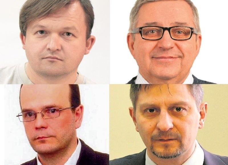 Mateusz Wrześniewski - właściciel Crew4You, Marek Siergiej - prezes Promotech SA, Prof. Rober Ciborowski - prorektor UwB i Marek Dźwigaj - wiceprezes PFRR