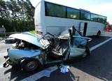 Zmarł kierowca auta staranowanego przez autobus