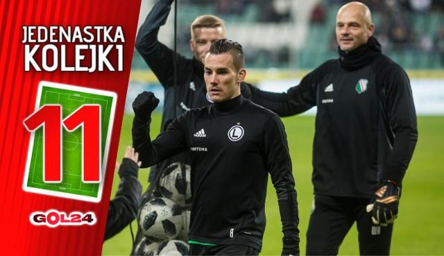 Lotto Ekstraklasa. W 32. kolejce wszystkie trzy drużyny z podium wygrały swoje mecze. Najlepsze wrażenie pozostawiła Legia Warszawa, która zdobyła trudny teren przy Reymonta w Krakowie. I to  pomimo gry przez pół godziny w dziesiątkę. Zobacz, jak przedstawia się najlepsza jedenastka.
