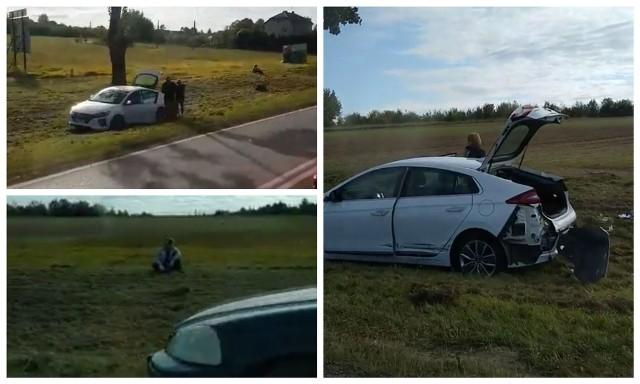 W Fastach doszło do wypadku. Hyundai zderzył się z hondą. Zdjęcia pochodzą z fanpejdża Kolizyjne Podlasie
