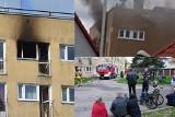 Tragiczny pożar mieszkania przy ulicy Lechickiej w Koszalinie. Dwie osoby nie żyją [ZDJĘCIA]