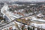Węzeł Łękno w Szczecinie. Jak idą prace w warunkach zimowych? Nowe wieści i zdjęcia z lotu ptaka