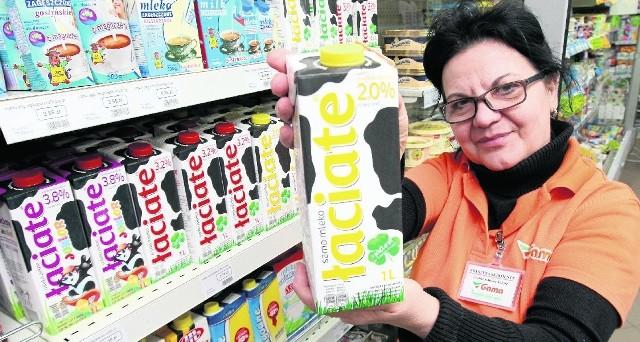 -  Najtańsze mleko kosztuje 2,69 złotych za litr - mówi Krystyna Skirmuntt z kieleckiego sklepu Gama.
