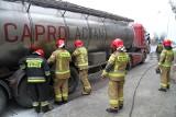 Pożar ciężarówki w Tarnobrzegu. Co się wydarzyło? (ZDJĘCIA)