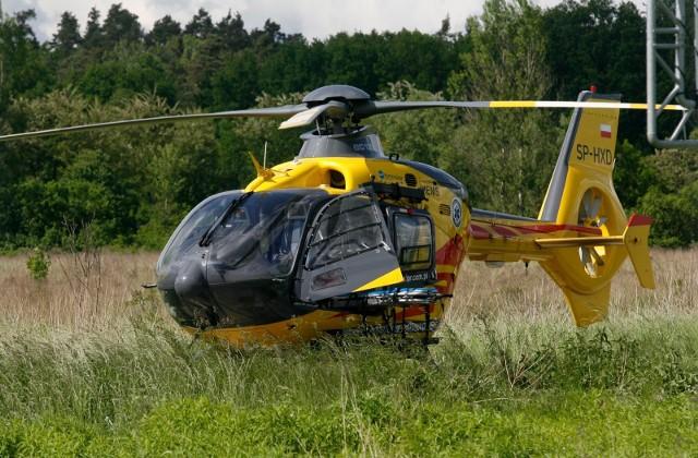 Ranna dziewczynka została przetransportowana śmigłowcem LPR do szpitala w Łodzi
