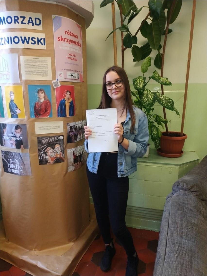 Zuzanna Nasiadek, finalistka Olimpiady Języka Angielskiego