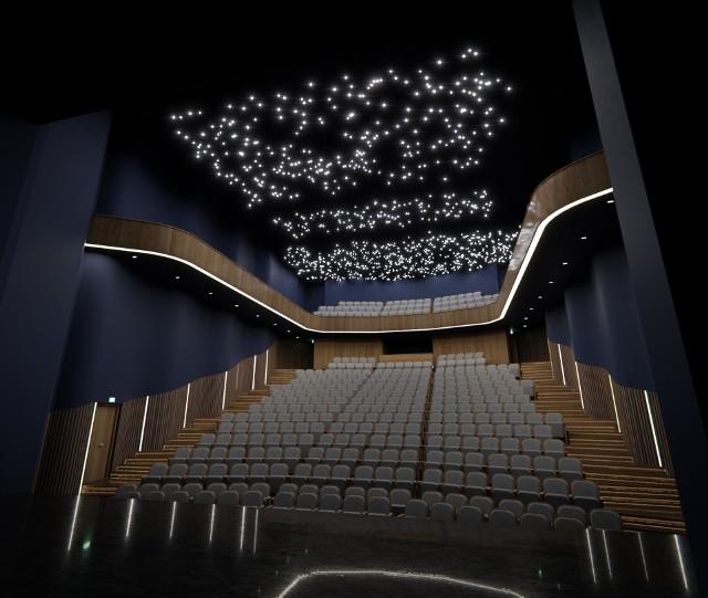 Cała widownia przejdzie gruntowny remont wraz z przebudową. Będzie nowe (podniesione) zadaszenie, nowy balkon, a widownia na parterze zyska zmienioną geometrię nachylenia i 390 miejsc. Będzie nastrojowe oświetlenie i wykładziny akustyczne