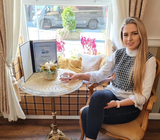 Paulina Trzeciak menedżer lokalu Fanaberia w Trzebini