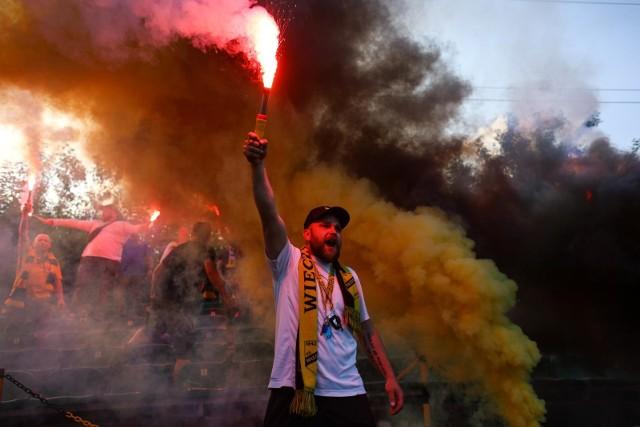 16.06.2021, Kraków: kibice na finale Małopolskiego Pucharu Polski Wieczysta Kraków - Poprad Muszyna