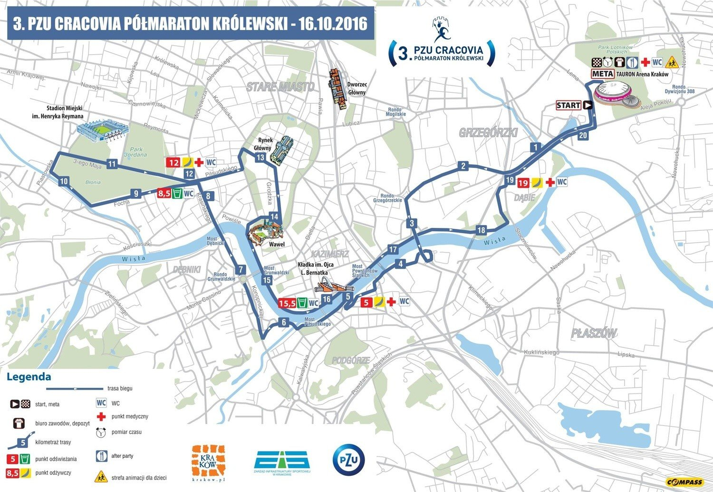 Krakow W Niedziele Polmaraton Krolewski Beda Utrudnienia Mapa