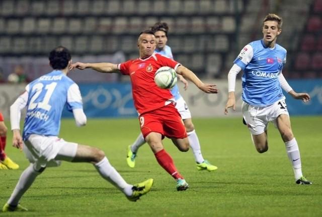 Marcin Kaczmarek jest najbardziej doświadczonym piłkarzem Widzewa.