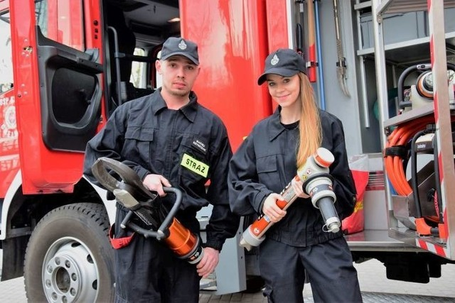 """Klaudia Chytrowska i Maciej Szymczak z OSP w Chełmcach. Strażacy i ich koledzy prowadzą w kategorii """"Jednostka OSP"""""""