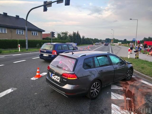 Wypadek w Chrząstowicach.