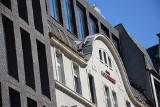 Hotel Diament w Katowicach: ściągnięto rusztowania z nowej części. Jest piękna cegła na elewacji