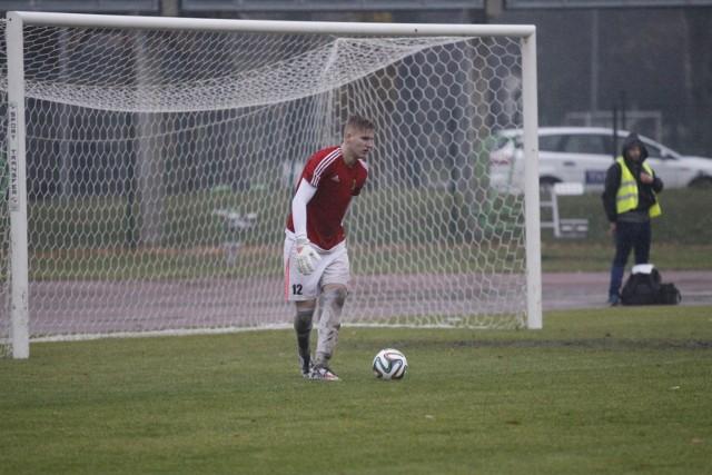 Bramkarz Kacper Majchrowski jest kandydatem do gry w zespole z Kluczborka.