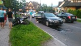 Zakopane: Motocykl wjechał pod samochód [ZDJĘCIA]