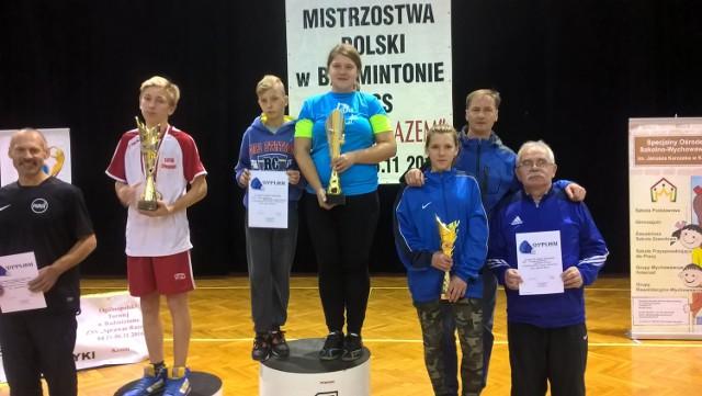 Na trzecim stopniu podium - wspólnie z trenerem Jarosławem Fidurskim - Natalia Babińska