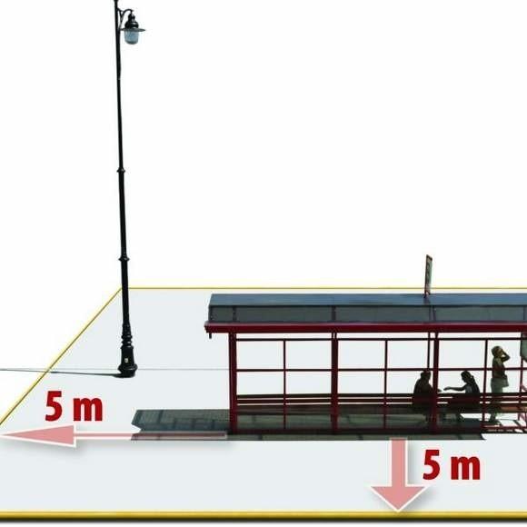 """""""Strefa wolna od dymu"""" to pięć metrów od przystanku w każdym kierunku."""