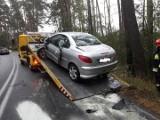 Wypadek w Bożenkowie pod Bydgoszczą. Dwie osoby trafiły do szpitala [zdjęcia]