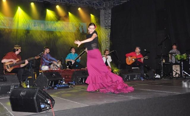 Podczas koncertu flamenco pojawiło się także w formie tańca.