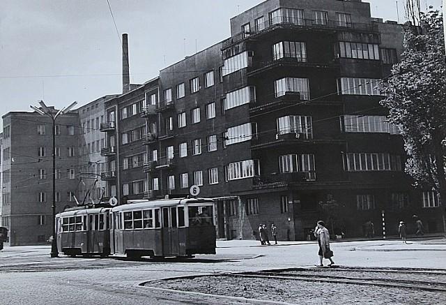 Róg al. Mickiewicza i al. Kościuszki w 1960 roku