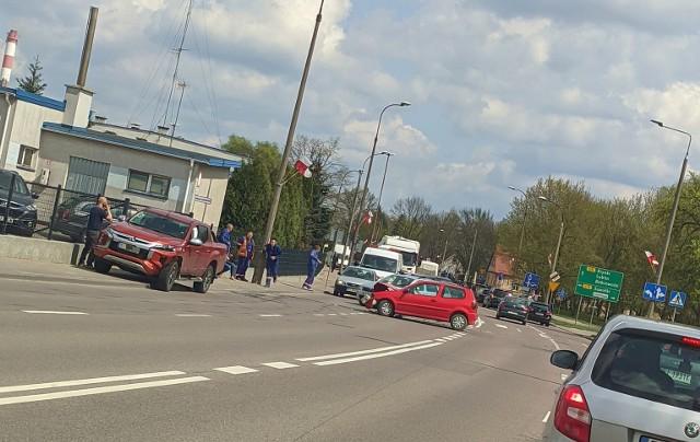 Wypadek na ulicy Poleskiej w Białymstoku