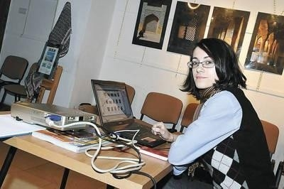 Iwona Kukla podczas prezentacji video Fot. Jan Ciepliński
