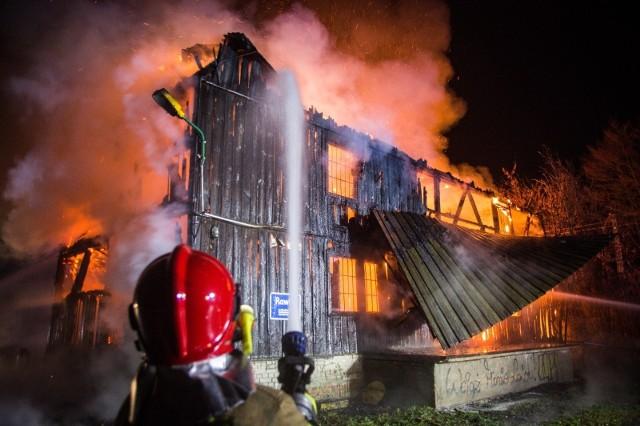 Pożar młyna w Rudzie pod Skierniewicami
