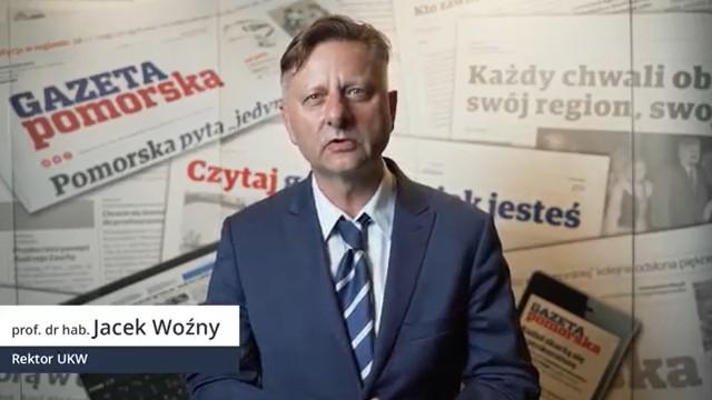 Prof. Jacek Woźny, rektor rektor Uniwersytetu Kazimierza Wielkiego w Bydgoszczy.