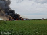Pożar w Tykadłowie. Na miejsce skierowano 7 zastępów straży pożarnej [ZDJĘCIA]