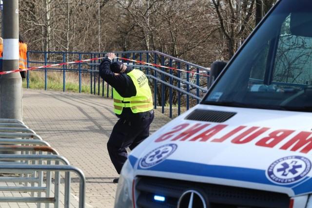 Wypadek na torach w Katowicach