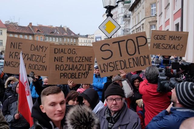 W styczniu działkowcy protestowali przed poznańskim Urzędem Miasta