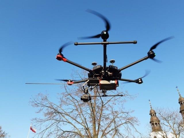 Dron z bydgoskiej firmy