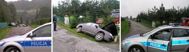 Opel, który wjechał w pieszych został zabezpieczony przez policję. Teraz obejrzą go biegli.
