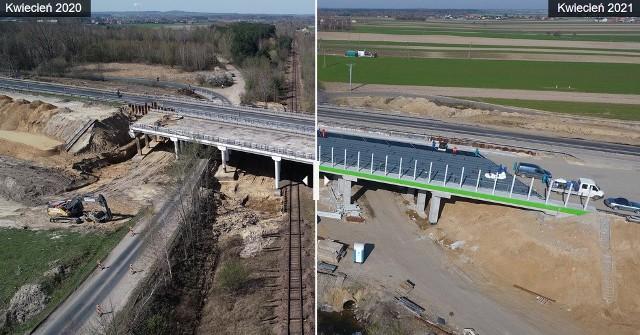 Już tylko pięć miesięcy zostało do otwarcia pierwszego z czterech odcinków autostrady A1 budowanych w województwie łódzkim. Zaawansowanie robót, jak podaje strona GDDKiA poświęcona tej inwestycji, w marcu przekroczyło 75 proc. Jesienią mają zostać oddane jeszcze dwa kolejne odcinki – razem będzie to 40 km autostrady.ZOBACZ ZDJĘCIA >>>>Aby zobaczyć, co przez rok zmieniło się na budowie autostrady A1, użyj suwaka, który znajduje się na każdym zdjęciu w galerii.