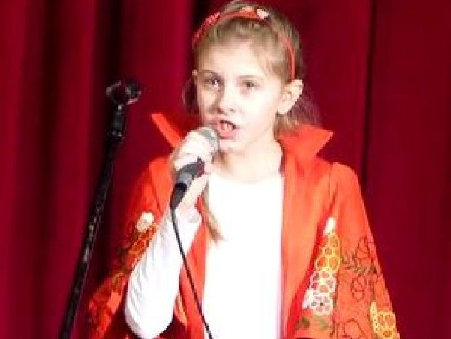 Tak Wiktoria Maj wyśpiewała finał konkursu kolęd.