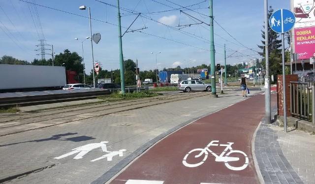 Ścieżka rowerowa przy Chorzowskiej