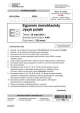 """Egzamin ósmoklasisty 2021 polski - ODPOWIEDZI, ARKUSZ CKE. """"Pan Tadeusz"""" na egzaminie ósmoklasisty z j. polskiego 25.05.21"""