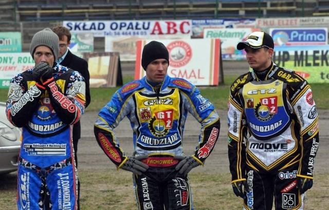 Norbert Kościuch (w środku) wiele może nauczyć się od Daveya Watta oraz Hansa Andersena.