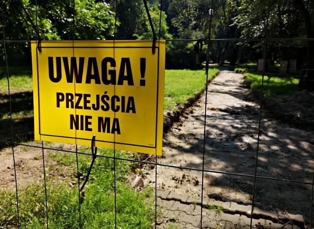 Park Skalskiego nadal jest w remoncie