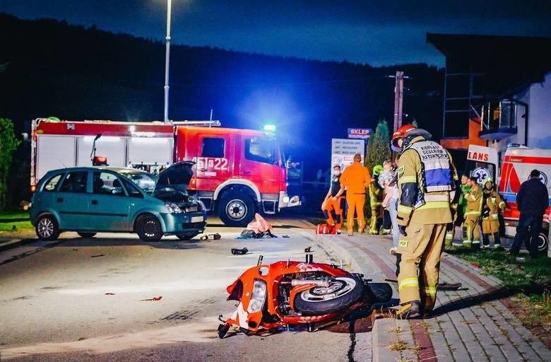 Zmarł 19-letni motocyklista w skutek odniesionych obrażeń