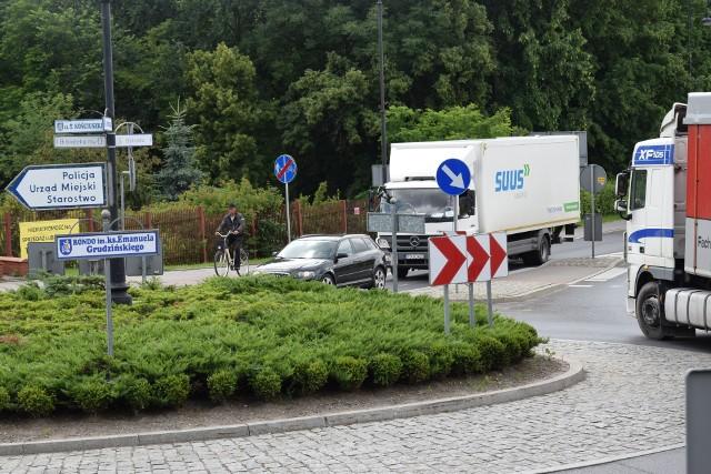 Artur Juhnke ponownie wnioskował o budowę ścieki rowerowej przy rondzie Grudzińskiego w Sępólnie