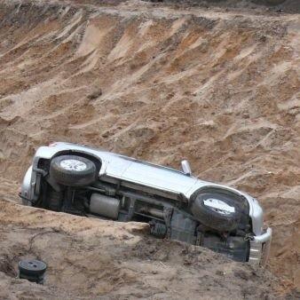 Kierujący samochodem prawdopodobnie jechalod strony Wasilkowa. Policja sprawdza okoliczności wypadku i szuka kierowcy auta.