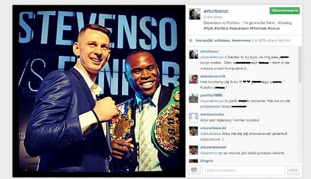 Artur Boruc dał się sprowokować na Instagramie