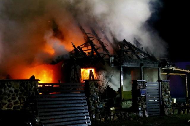 Pożar w Żernikach Wrocławskich