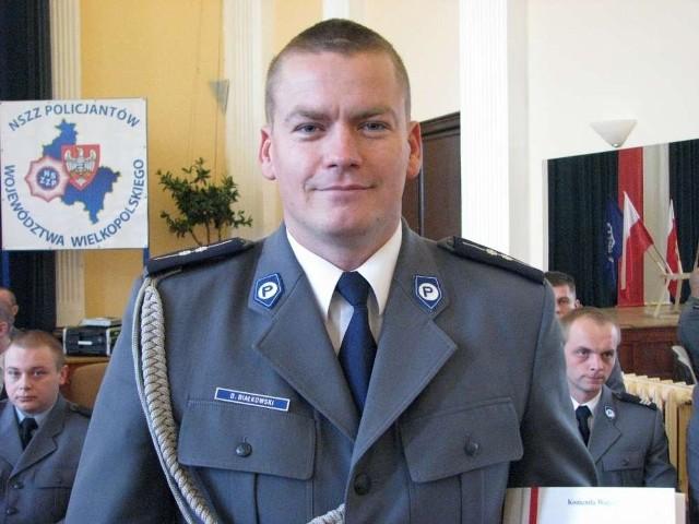 Dariusz Białkowski, komendant komisariatu wodnego w Poznaniu