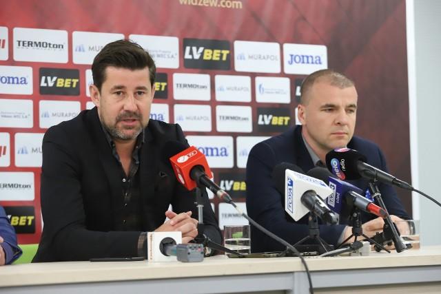 Łukasz Masłowski i poprzedni prezes Widzewa Jakub Kaczorowski