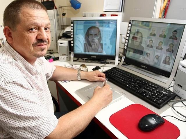 Wystarczy 30 sekund, by zapamiętać twarz człowieka - uważa Andrzej Antoniuk.
