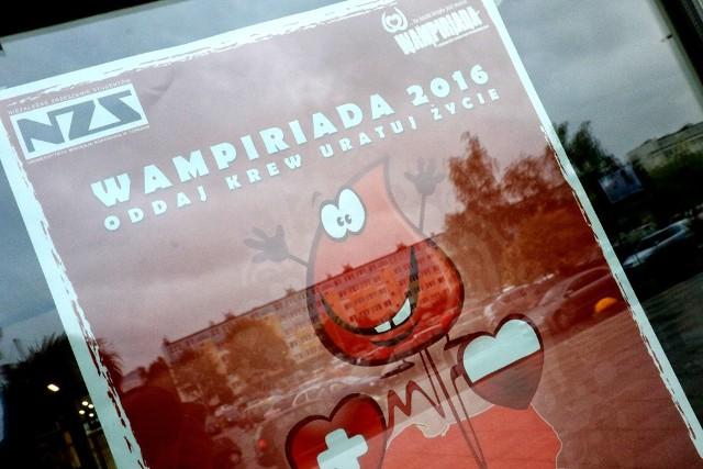Wampiriada czyli studenckie honorowe krwiodawstwo odbyła się dziś na UMK.