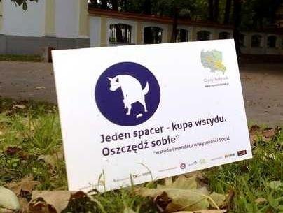Tabliczka w Parku Branickich. Akcja Czysty Białystok ruszyła we wrześniu